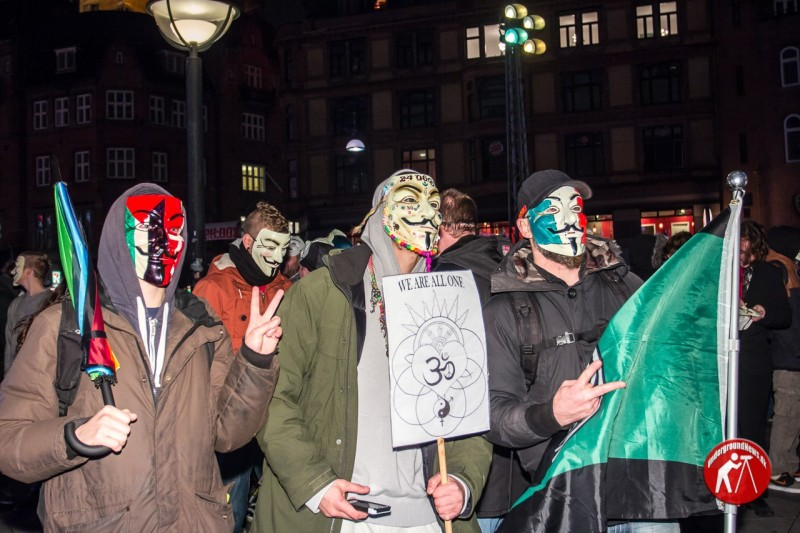 Million Mask March 2014 - Copenhagen